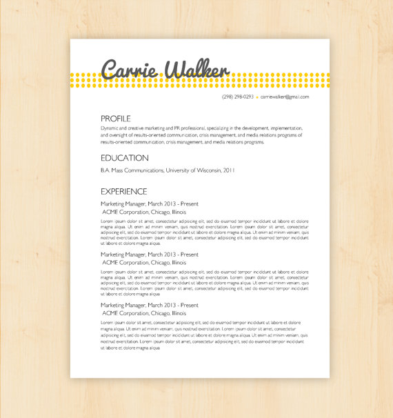 Resume Template / CV Template - The From PhD Press