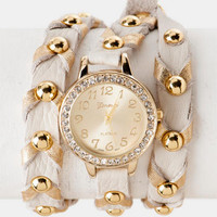 Sheridan Chevron Wrap Watch in Ivory