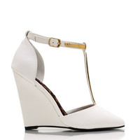 Reptilian-Metallic-Accent-Wedges WHITE - GoJane.com
