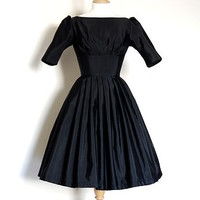 Vintage Grosgrain Audrey Prom Dress