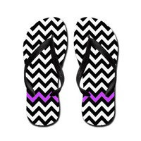 Black, White And Purple, Zigzag Flip Flops> Flip Flops> Ornaart