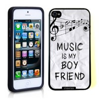 Iphone 5 Case Thinshell Case Protective Iphone 5 Case Shawnex Music Is My Boyfriend Hipster Quote:Amazon:Cell Phones & Accessories