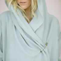 Fleece Cozy Bohemian Cardigan Wrap Slouchy Warm Hoodie Cozy Jacket - Bohemian Warm Wrap Jacket with Raw Edge Detail in Medium