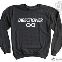 "One Direction ""Directioner"" Sweatshirt - 1D Sweater Harry Styles, Niall Horan, Zayn Malik, Liam Payne, Louis Tomlinson- Item: 011"