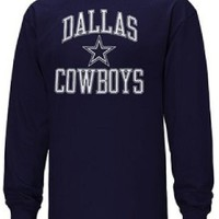 Dallas Cowboys Blue Pro Set Long Sleeve T Shirt