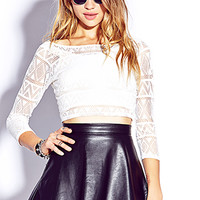 Edgy Perforated Crop Top | FOREVER 21 - 2000074925