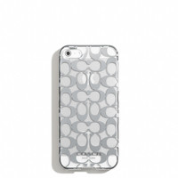 iphone 5 case in metallic signature print