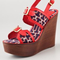 Tory Burch Florian High Wedge Sandals | SHOPBOP