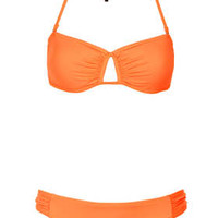 Orange Bandeau Bikini Top and Ruche Pants - Swimwear  - Clothing  - Topshop