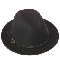Black Wool Panama Hat