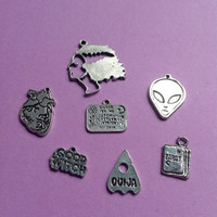Halloween Witch, Zombie, Pumpkin, Cat, Bat or Grave necklace