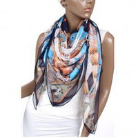 2012 High-class Manual Edge Genuine Silk Scarves