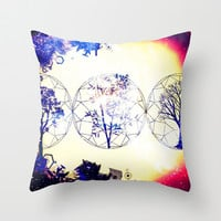 TREEMETRICLIFE Throw Pillow by Chrisb Marquez