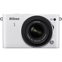 Nikon - 1 J3 Compact System Camera with 10-30mm VR Lens - White
