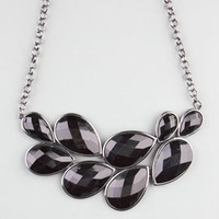 FULL TILT Teardrop Facet Stone Statement Necklace