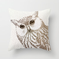 The Intellectual Owl Throw Pillow by Paula Belle Flores