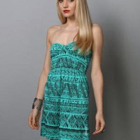 Billabong Teal Dress - Strapless Dress - &amp;#36;39.50
