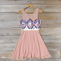 Stone Spell Beaded Dress in Dusty Pink