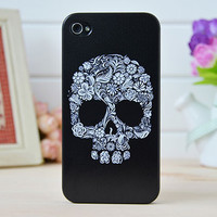 Floral With Skull Iphone Cases for Iphone 4/4s