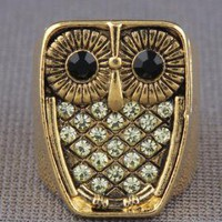 Zad Hoot Hoot Ring in Gold - $14.00 : Fashion Rings at LuLus.com
