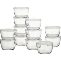 Storage Bowls With Clear Lids (Set of 12)