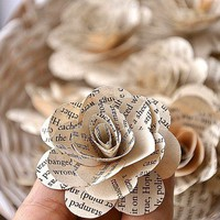 Vintage Books Paper Roses | AccentsandPetals - Housewares on ArtFire