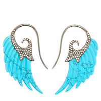 NOOR FARES | 18k Gold and Turquoise Wing Earrings | Browns fashion & designer clothes & clothing