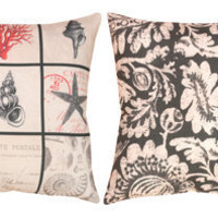Climaweave Vintage Seaside Reversible Pillow 