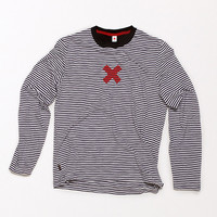 Best Made Company — Long-Sleeve Striped Crewneck with Printed X