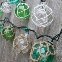 Glass Float String Lights | OceanStyles.com