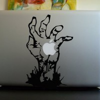 Apple Macbook Vinyl Decal Sticker - Zombie Hand