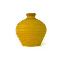 mustard yellow vase, aztec, pottery, upcycled vases, tribal, earthy, stone vase, autumn home decor