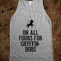 On all fours for Gryffindors-Unisex Athletic Grey Tank