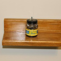 Small Oak Lumber Curio Shelf  H117 on Handmade Artists' Shop
