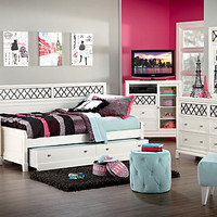 Suki White   4 Pc Daybed Bedroom