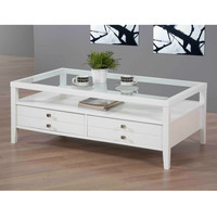 Aristo Gloss White Coffee Table | Overstock.com
