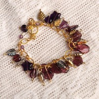 Handmade Purple Glass Charm Bracelet | peaceloveandallthingsjewelry - Jewelry on ArtFire