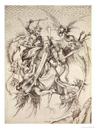The Temptation of St. Anthony Giclee Print by Martin Schongauer at Art.com