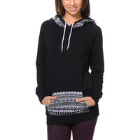 Empyre Girls Long Beach Tribal Print Black Pullover Hoodie at Zumiez : PDP