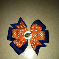 Florida  2 Layer Pinwheel Bow with Button center