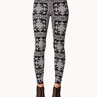 Baroque Print Leggings | FOREVER 21 - 2075065256