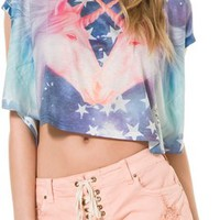 UNDERSTAR DOUBLE UNICORN CROP TEE | Swell.com