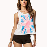 British Flag Cropped Tank