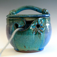 Kitty-Proof Yarn Bowl, handmade ceramic yarn bowl, In stock Ready to Ship