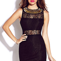 Beaded Goddess Bodycon Dress