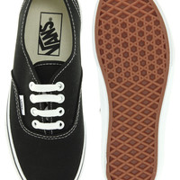 Vans | Vans Authentic Classic Black and White Lace Up Trainers at ASOS