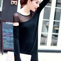 ROMWE | Panel Asymmetric Black Dress, The Latest Street Fashion