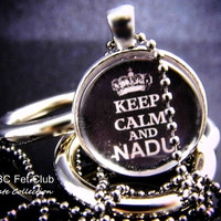 Keep Calm and NADU - Gorean Glass Pendant - Distressed