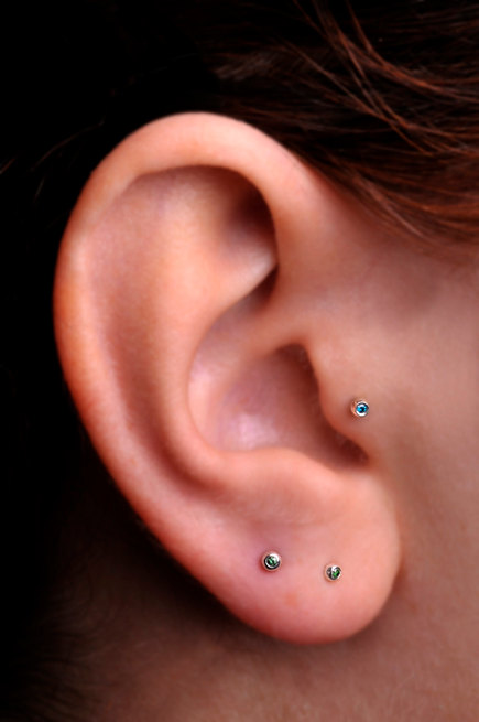 TRAGUS / Cartilage stud / Sterling Silver from ...