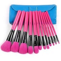 Big Sale!!! Brand New Professional 12PCS Set Makeup Brushes Cosmetic Tool Perfect Kit Brush + Soft Leather Case:Amazon:Beauty